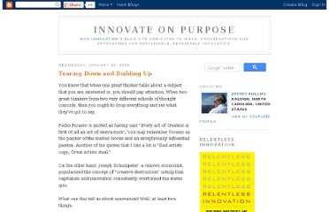http://innovateonpurpose.blogspot.com/2008/01/tearing-down-and-building-up.html