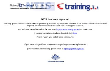 http://ntis.gov.au/?/trainingpackage/TAA04/Qualification/TAA50104/rules
