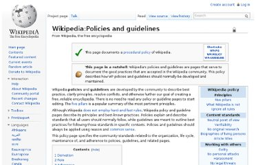 http://en.wikipedia.org/wiki/Wikipedia:Policies_and_guidelines
