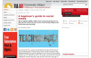 http://www.universityaffairs.ca/a-beginners-guide-to-social-media.aspx