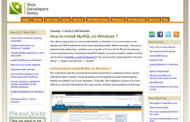 http://www.webdevelopersnotes.com/how-do-i/install-mysql-windows-7.php