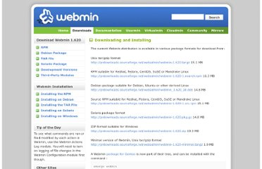 http://www.webmin.com/download.html