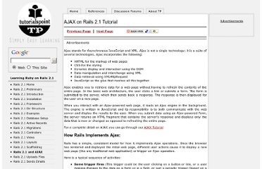 http://www.tutorialspoint.com/ruby-on-rails-2.1/rails-and-ajax.htm