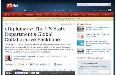 http://www.zdnet.com/blog/collaboration/ediplomacy-the-us-state-departments-global-collaborative-backbone/1681