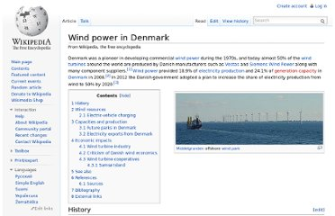 http://en.wikipedia.org/wiki/Wind_power_in_Denmark