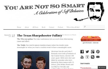 http://youarenotsosmart.com/2010/09/11/the-texas-sharpshooter-fallacy/