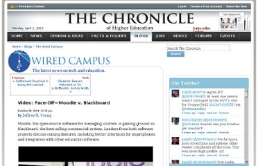 http://chronicle.com/blogs/wiredcampus/video-face-off%e2%80%94moodle-v-blackboard/27865