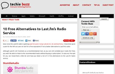 http://techie-buzz.com/music-tools/free-online-radio-services-lastfm-alternatives.html