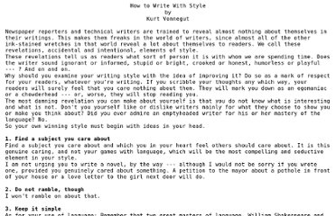 http://www.peterstekel.com/PDF-HTML/Kurt%20Vonnegut%20advice%20to%20writers.htm