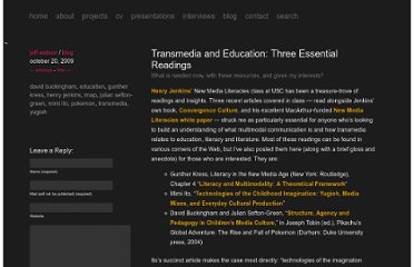 http://remotedevice.net/blog/transmedia-and-education-three-essential-readings/