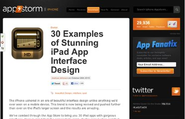 http://iphone.appstorm.net/roundups/design/30-examples-of-stunning-ipad-app-interface-design/