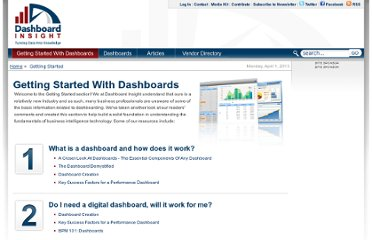 http://www.dashboardinsight.com/getting-started/