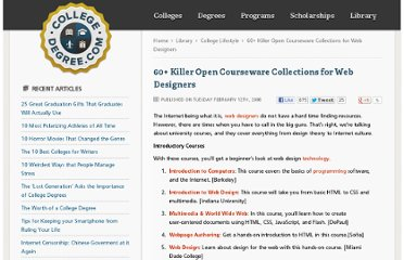 http://www.collegedegree.com/library/college-life/collegedegree-60-killer-open-courseware-collections-for-web-designers