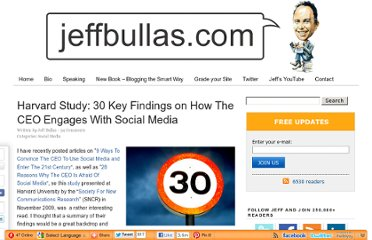 http://www.jeffbullas.com/2009/12/13/new-harvard-study-30-key-findings-on-how-the-ceo-engages-with-social-media/