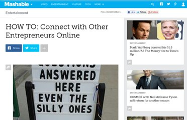 http://mashable.com/2010/10/26/connect-with-entrepreneurs/