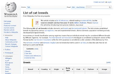 http://en.wikipedia.org/wiki/List_of_cat_breeds