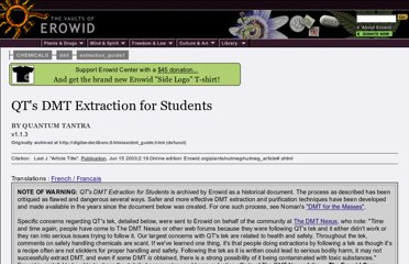 http://www.erowid.org/chemicals/dmt/extraction_guide1/dmt_extraction_guide1.shtml