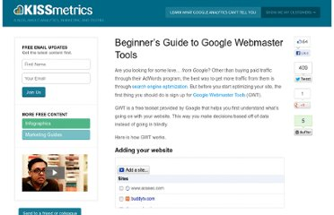 http://blog.kissmetrics.com/beginners-guide-to-google-webmaster-tools/