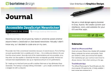 http://www.bartelme.at/journal/archive/accessible_javascript_newsticker/