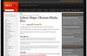 http://ajaxian.com/archives/yahoo-maps-chooses-flashy-flex