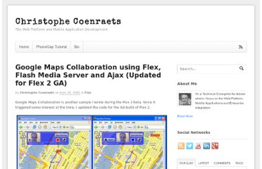 http://coenraets.org/blog/2006/06/google-maps-collaboration-using-flex-flash-media-server-and-ajax-updated-for-flex-2-ga/