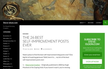 http://steve-olson.com/the-26-best-self-improvement-posts-ever/