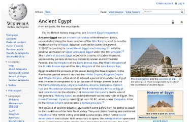 http://en.wikipedia.org/wiki/Ancient_Egypt