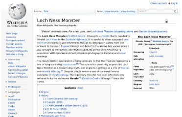 http://en.wikipedia.org/wiki/Loch_Ness_Monster