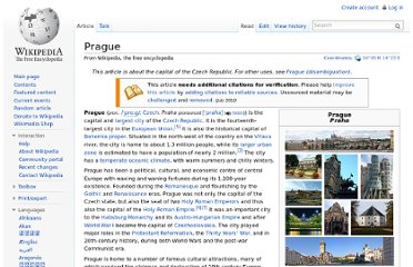 http://en.wikipedia.org/wiki/Prague