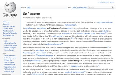 http://en.wikipedia.org/wiki/Self-esteem