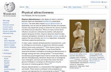 http://en.wikipedia.org/wiki/Physical_attractiveness