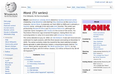 http://en.wikipedia.org/wiki/Monk_(TV_series)