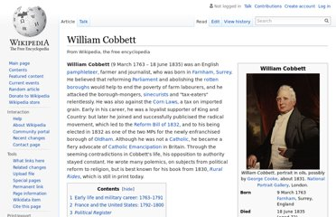 http://en.wikipedia.org/wiki/William_Cobbett