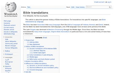 http://en.wikipedia.org/wiki/Bible_translations