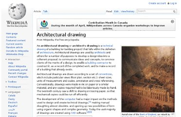 http://en.wikipedia.org/wiki/Architectural_drawing
