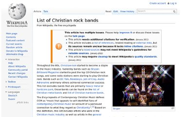 http://en.wikipedia.org/wiki/List_of_Christian_rock_bands