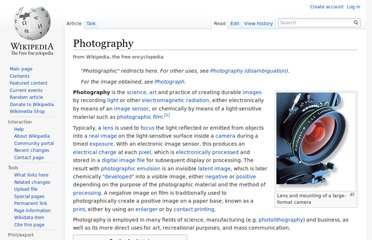 http://en.wikipedia.org/wiki/Photography