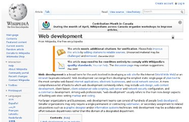 http://en.wikipedia.org/wiki/Web_development