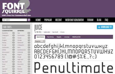 http://www.fontsquirrel.com/fonts/Juice