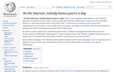 http://fr.wikipedia.org/wiki/On_the_Internet,_nobody_knows_you%27re_a_dog
