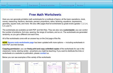 http://www.homeschoolmath.net/worksheets/