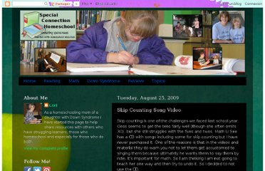 http://specialconnectionhomeschool.blogspot.com/2009/08/skip-counting-song-video.html