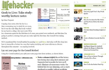 http://lifehacker.com/202418/geek-to-live--take-study+worthy-lecture-notes
