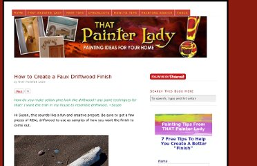 http://www.thatpainterlady.com/how-to-create-a-faux-driftwood-finish/
