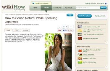 http://www.wikihow.com/Sound-Natural-While-Speaking-Japanese
