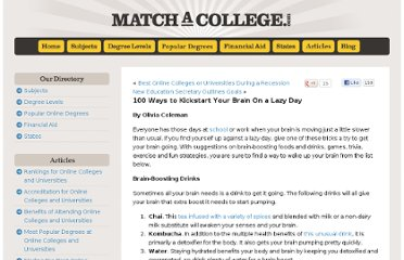 http://www.matchacollege.com/blog/2009/100-ways-to-kickstart-your-brain-on-a-lazy-day/