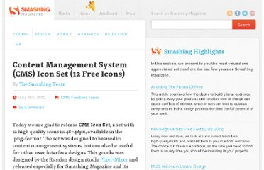 http://www.smashingmagazine.com/2010/07/19/content-management-system-cms-icon-set-12-free-icons/