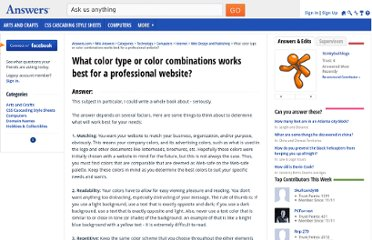 http://wiki.answers.com/Q/What_color_type_or_color_combinations_works_best_for_a_professional_website