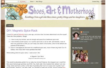 http://shoesartandmotherhood.blogspot.com/2010/01/diy-magnetic-spice-rack.html