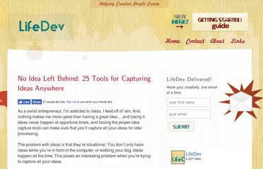 http://lifedev.net/2008/08/idea-capture-tools/